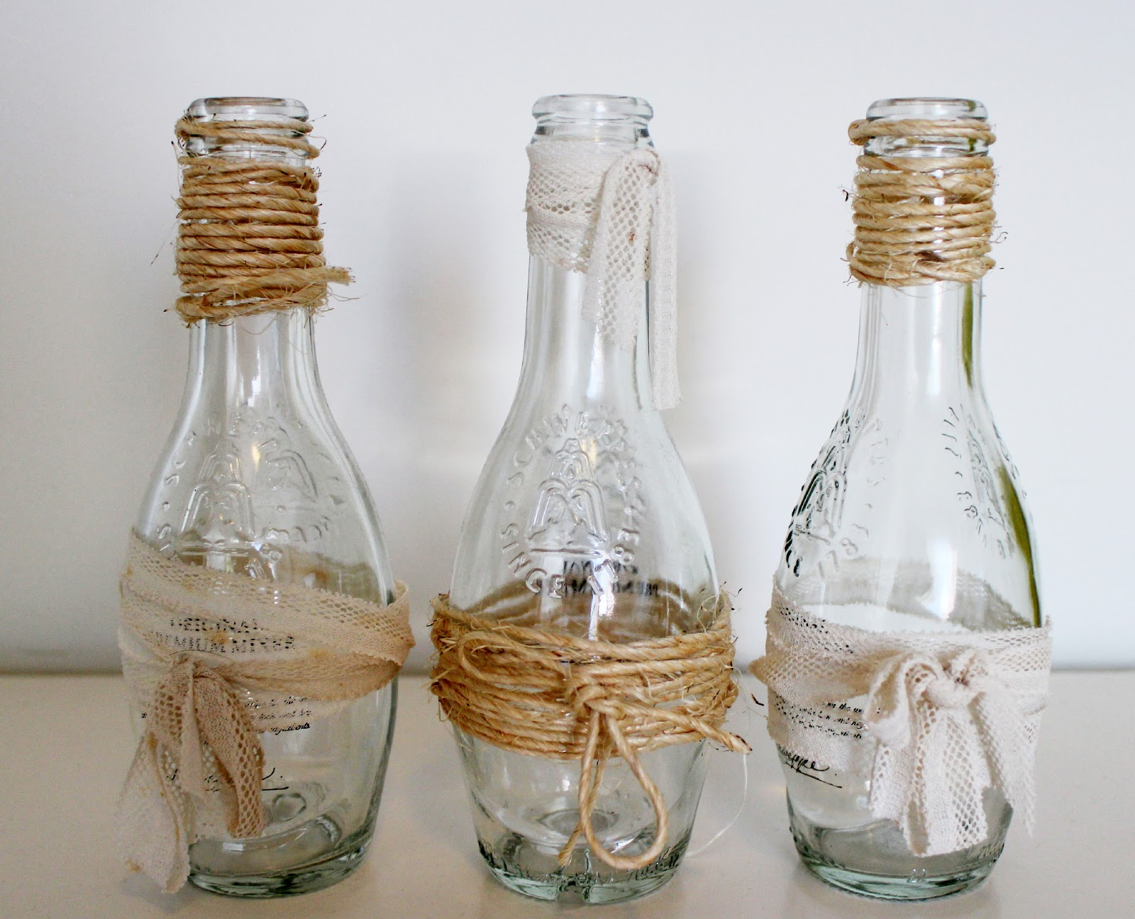 Ideas creativas con botellas elena sevilla - Botellas de cristal decoradas ...