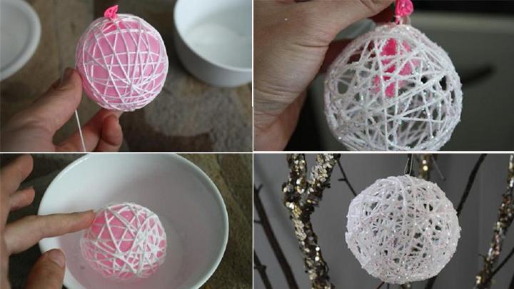Decora tus centros de mesa con esferas artesanales elena - Como se hacen adornos navidenos ...