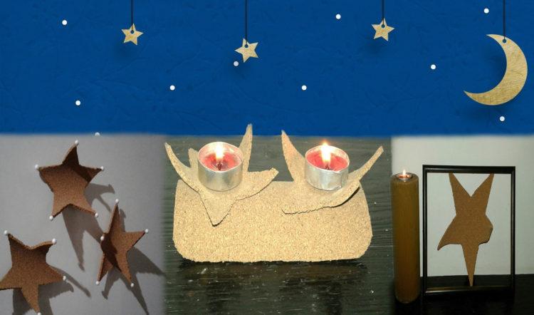 Ideas para decorar en navidad con estrellas de corcho - Ideas para decorar estrellas de navidad ...